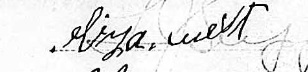 signature of eliza west